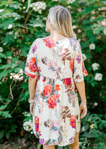 above the knee floral dress -  epiphany boutiques