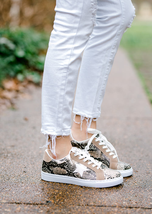 snakeskin sneaker - epiphany boutiques