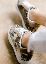 snakeskin print shoe with white star - epiphany boutiques