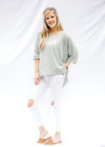 loose knit sage sweater - epiphany boutiques