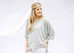 cuffed sleeve knit sweater - epiphany boutiques