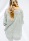 sage sweater back view - epiphany boutiques