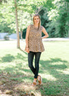 animal printed top - epiphany boutiques