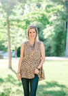 short sleeve animal print top - epiphany boutiques