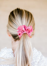 pink and white dot scrunchie - epiphany boutiques