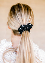 black and white dot scrunchie - epiphany boutiques