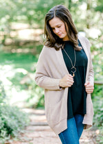 Story Time Taupe Cardigan