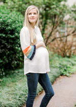 X Stripe Surprise Top for the Bump