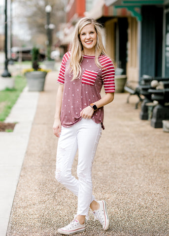Stripes and Dot Top