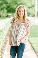 striped button up top - epiphany boutiques