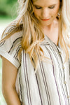 striped top with neutral colors - epiphany boutiques