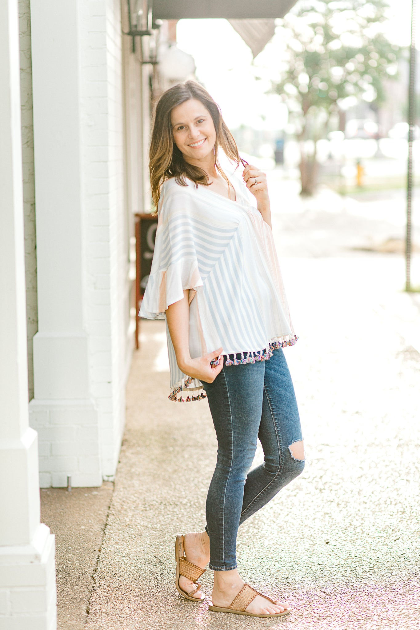 Sunset Tassel Top for the Bump