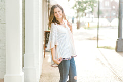 striped top with tassels - epiphany boutiques