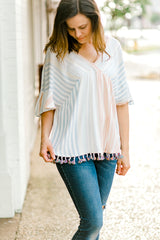 colorful striped top - epiphany boutiques