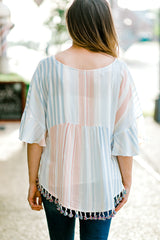 tassel top back view - epiphany boutiques