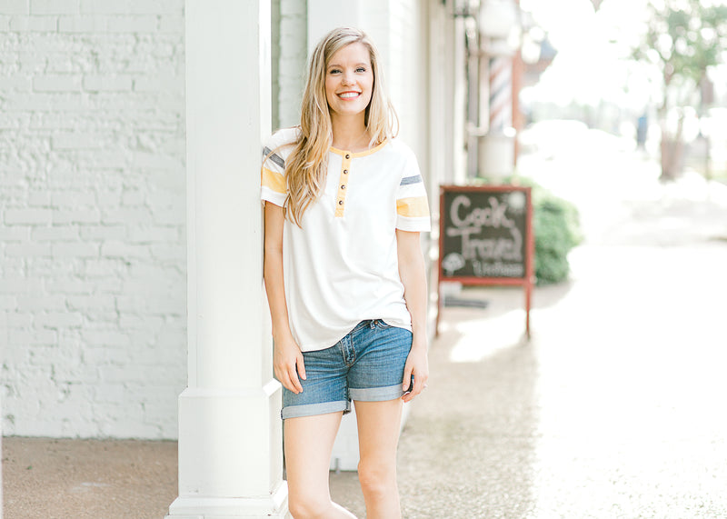 tee with scoop neckline - epiphany boutiques