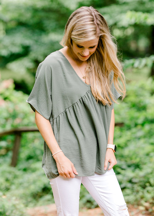 dolman top in olive - epiphany boutiques