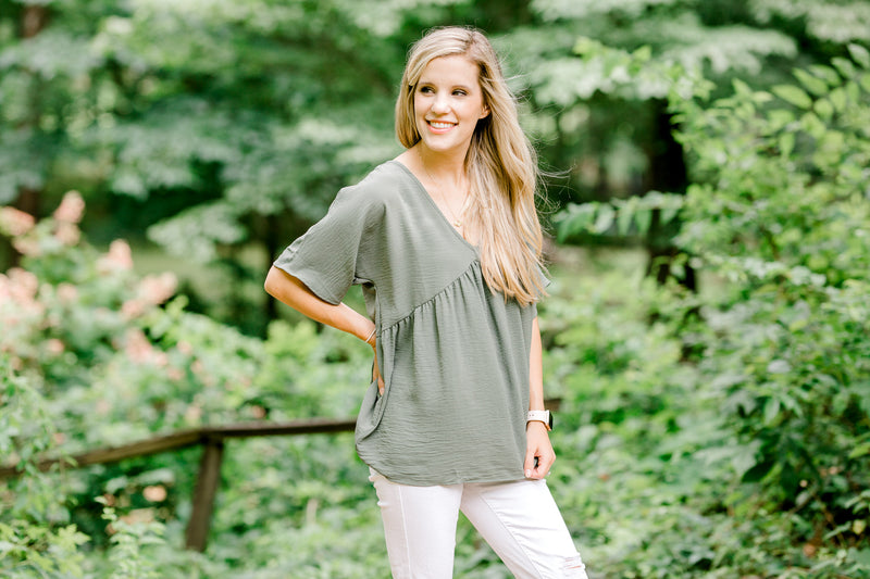 X Sweet Olive Dolman Top for the Bump