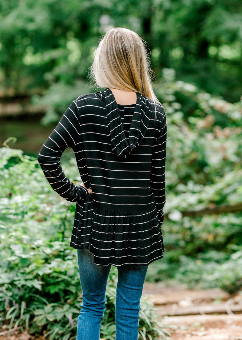 Tag Along Black Hoodie for the Bump