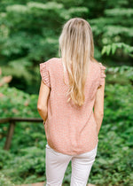 dusty mauve top back view - epiphany boutiques