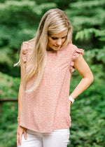 short sleeve top with ruffles - epiphany boutiques