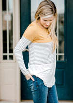 X Take Me There Striped Top
