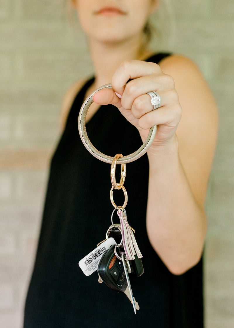 Tassel Leather Key Ring
