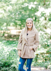 camel coat with tie front belt - epiphany boutiques