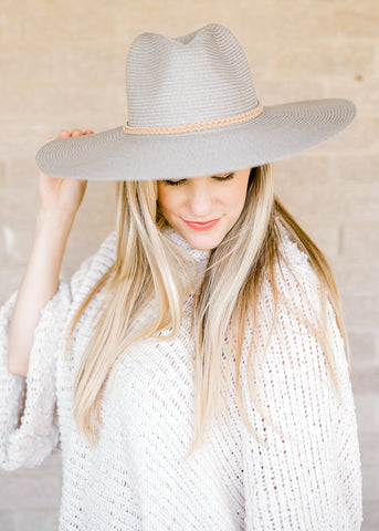 The Gray Raffia Style Hat