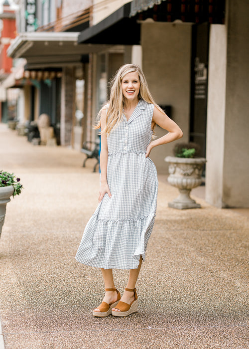 gingham midi dress - epiphany boutiques