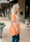 orange top in short sleeve - epiphany boutiques