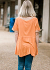 raw him top in peach - epiphany boutiques