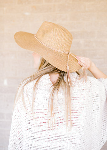 The Tan Raffia Style Hat