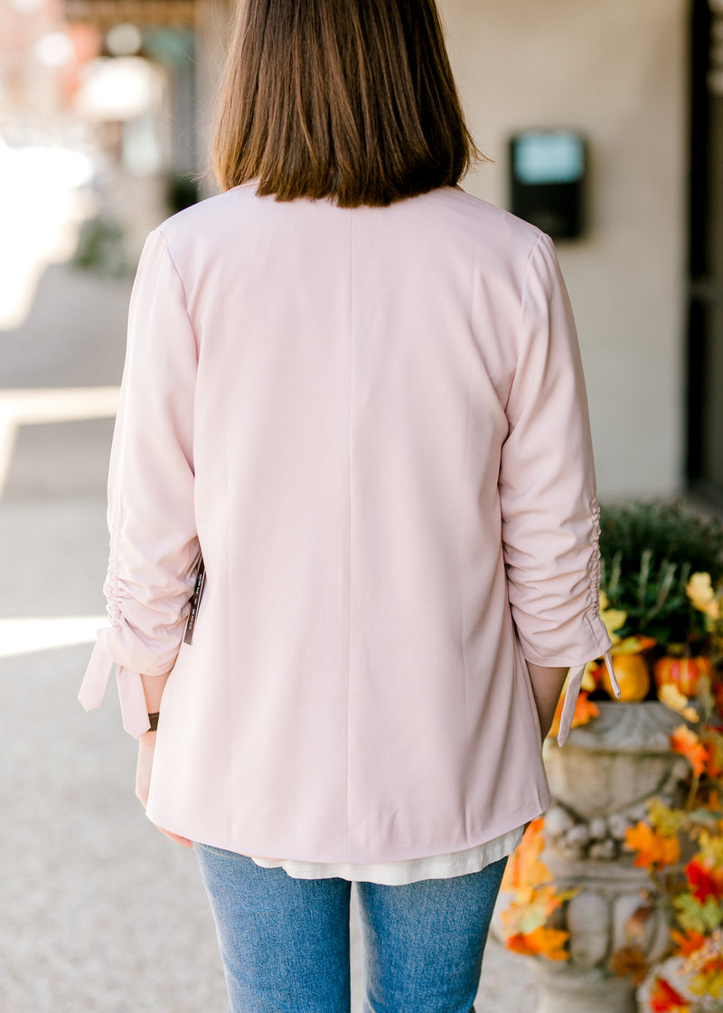 blush blazer back view - epiphany boutiques