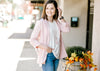 blush blazer with collar - epiphany boutiques
