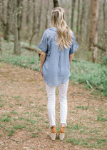 blue lightweight top - epiphany boutiques