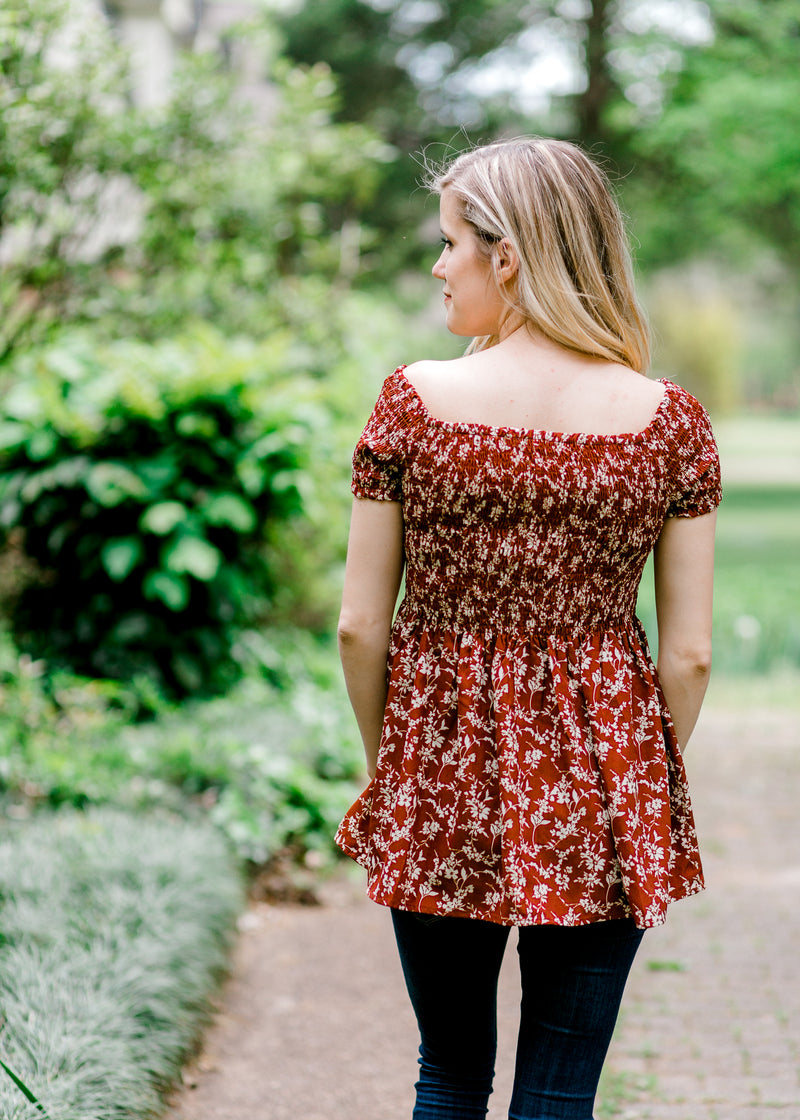 russet top back view - epiphany boutiques