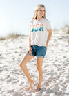 white tee with colorful usa -  epiphany boutiques
