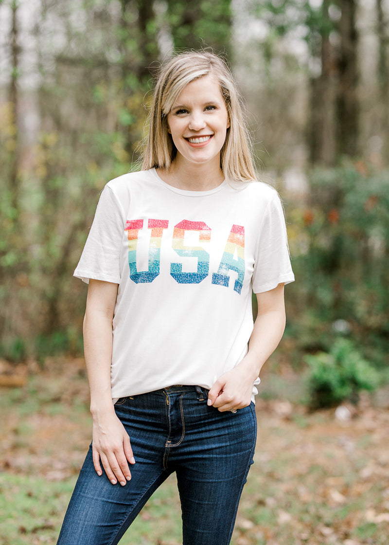 short sleeve USA top - epiphany boutiques