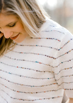 X Vanilla Sprinkles Short Sleeve Sweater