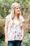 floral top with flutter sleeves - epiphany boutiques