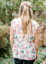 floral top back view - epiphany boutiques