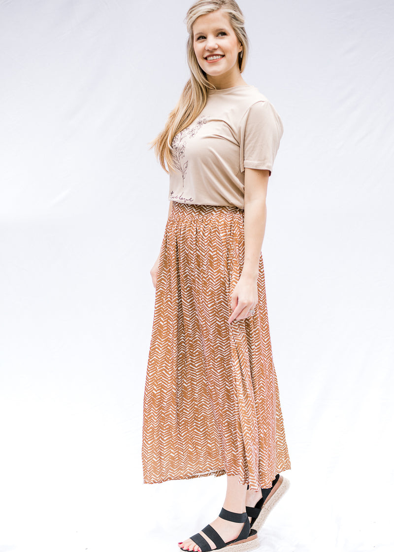 brown and cream midi - epiphany boutiques