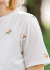 short sleeve embroidered tee - epiphany boutiques