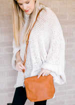 whiskey colored bag - epiphany boutiques