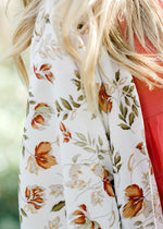 floral kimono with red flowers - epiphany boutiques