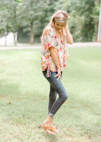 Winsome Floral Blouse