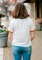 work hard ringer tee back view - epiphany boutiques