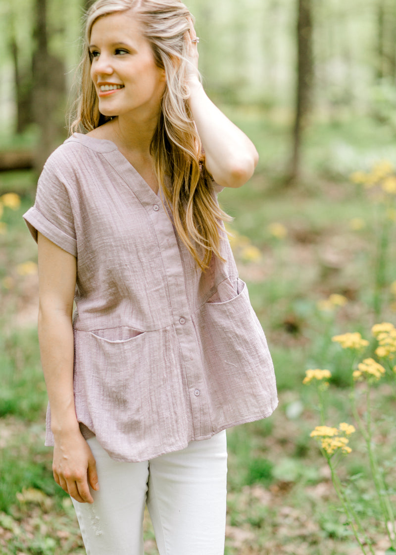 X Yours Alone Lavender Top