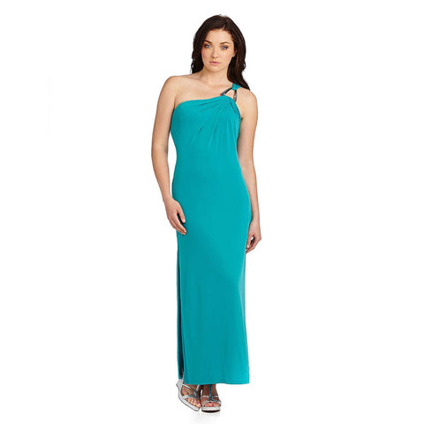MICHAEL Michael Kors One-Shoulder Hardware Maxi Dress - Your Glam Style - 1